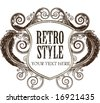 Retro shield - stock vector