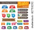 sale design elements - stock vector