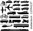 фондовый вектор: Набор различных транспортных средств.