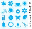 Set of icons on a theme spa. A vector illustration - stock vector