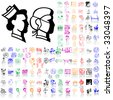 Set of medical sketches. Part 2. Isolated groups and layers. Global colors. - stock vector