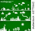 sustainable development concept - ecology backgrounds & elements // see also others from this series in my portfolio - stock vector