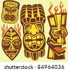 Tiki Masks - stock vector