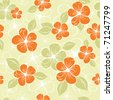 tropical seamless floral background - stock vector