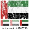 United Arab Emirates grunge flag set on a white background. Vector illustration. - stock vector