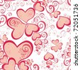 Valentines Day seamless pattern with hearts for your design - stock vector