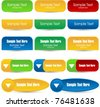 vector collection of bright web buttons - stock vector
