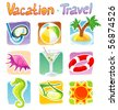 Vector illustration of travel icons - stock vector