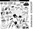 vector set - doodles - stock vector