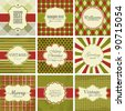 Vector set of christmas vintage backgrounds. - stock vector