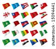 Vector set of world flags 4 - stock vector