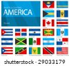 Waving Flags of North & Central American Countries. Design